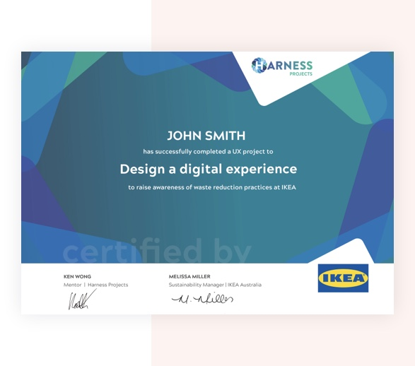 Certificate with BG